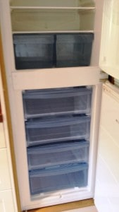 fridge freezer after cleaning