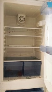 fridge freezer before cleaning