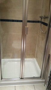 shower after cleaning