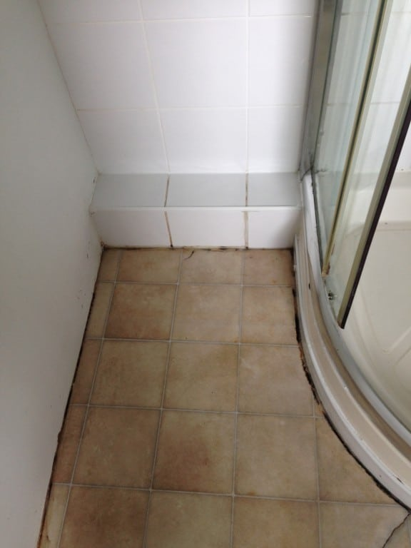 bathroom floor after cleaning