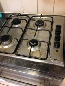 cooker before cleaning