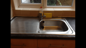 kitchen sink after cleaning