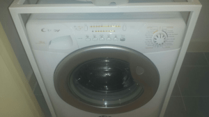 washing machine after cleaning